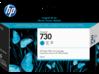 HP 730 130-ml Cyan DesignJet Ink Cartridge - Center