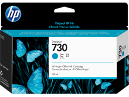 HP 730 130-ml Cyan DesignJet Ink Cartridge