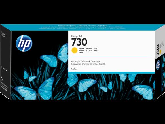 HP 730 300-ml Yellow DesignJet Ink Cartridge