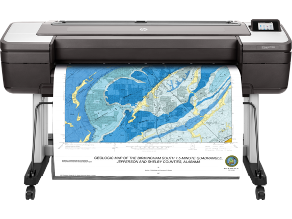 HP DesignJet T1700dr 44-in PostScript Printer - Center