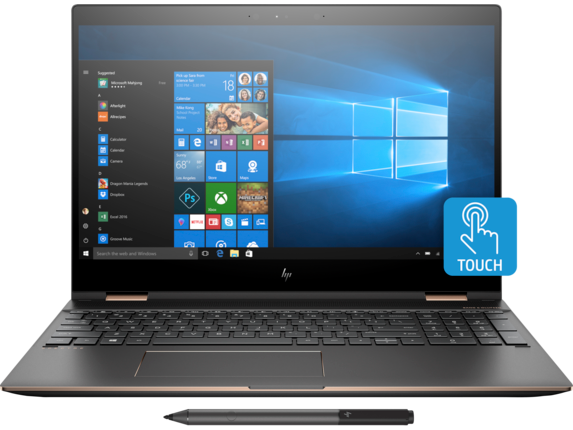 "HP Spectre x360 15t 15.6"" 4K UHD Laptop (4-Core i7 / 8GB / 256GB SSD)"