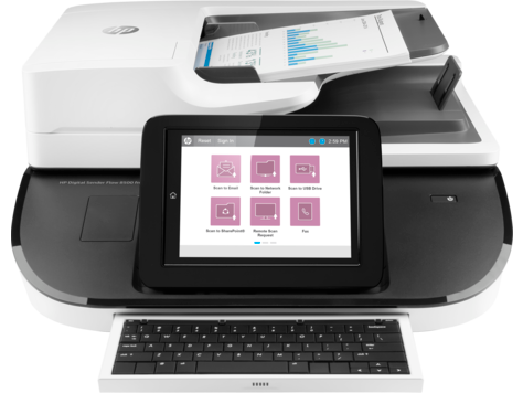 Station de travail de capture de document HP Digital Sender Flow 8500 fn2