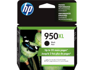 HP 950XL High Yield Black Original Ink Cartridge, CN045AN#140
