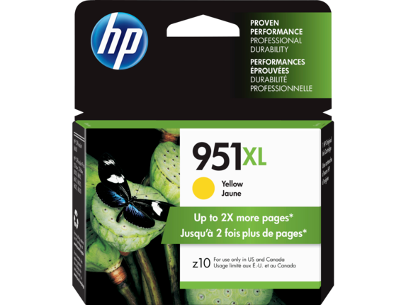 HP 951XL High Yield Yellow Original Ink Cartridge - Center