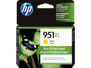 HP 951XL High Yield Yellow Original Ink Cartridge, CN048AN#140
