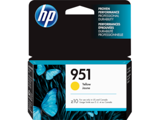 HP 951 Yellow Original Ink Cartridge, CN052AN#140