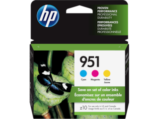 HP 951 3-pack Cyan/Magenta/Yellow Original Ink Cartridges, CR314FN#140
