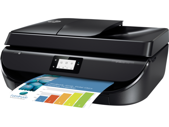 HP OfficeJet 5255 All-in-One Printer - Left