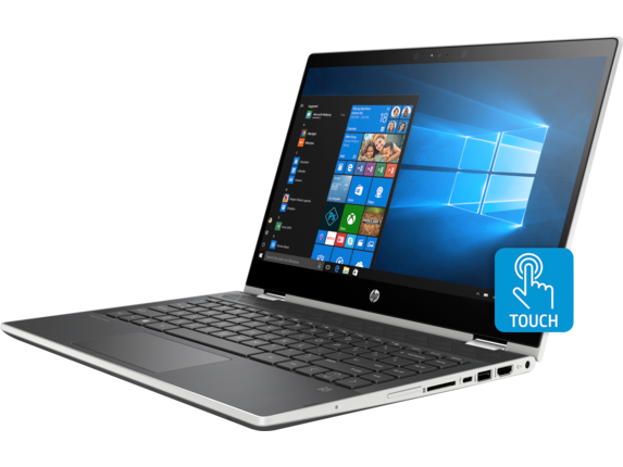 HP Pavilion x360 Convertible Laptop - 14t touch - Left