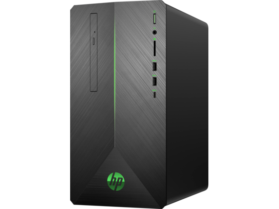 "HP Pavilion Gaming Desktop 690xt + Pavilion Gaming 32"" HDR Display Bundle - Left"