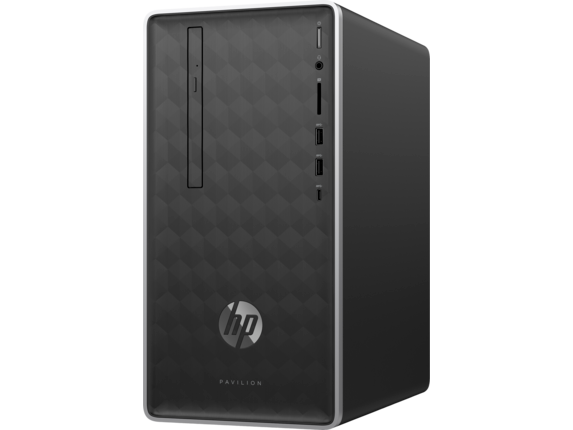 "HP Pavilion 590qe Desktop + HP 27"" Curved Display Bundle - Left"