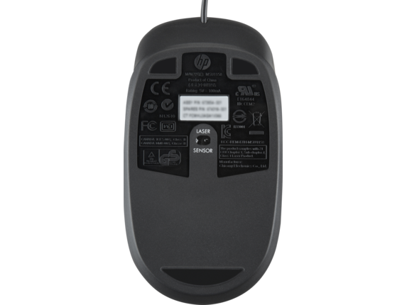HP USB 1000dpi Laser Mouse - Rear