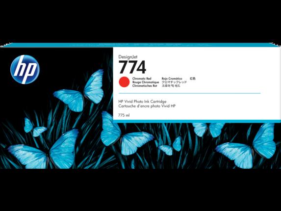 HP 774 775-ml Chromatic Red DesignJet Ink Cartridge