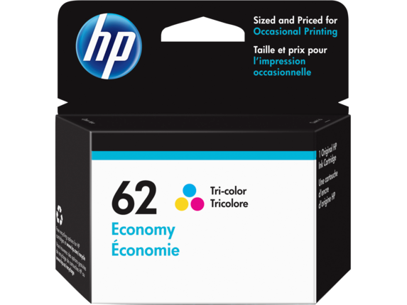 HP 62 Economy Tri-color Original Ink Cartridge