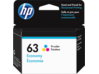 HP 63 Economy Tri-color Original Ink Cartridge