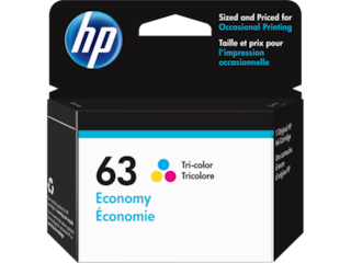 HP 63 Economy Tri-color Original Ink Cartridge, 1VV44AN