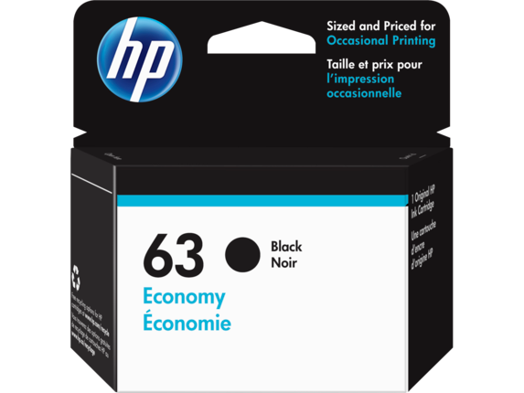 HP 63 Economy Black Original Ink Cartridge