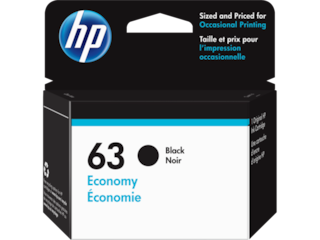 HP 63 Economy Black Original Ink Cartridge, 1VV45AN