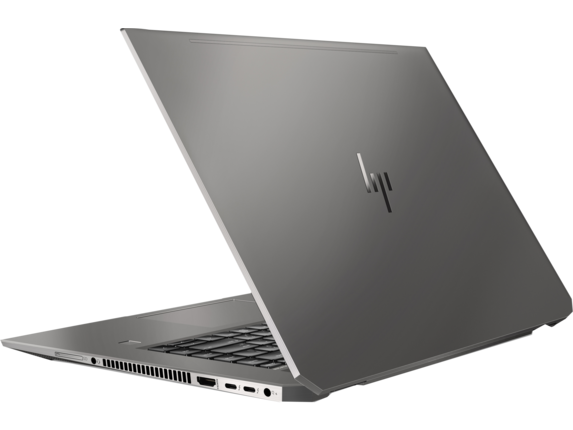 HP ZBook Studio G5 Mobile Workstation - Rear open |Turbo Silver
