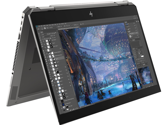 HP ZBook Studio x360 G5 Workstation - Right rear |Turbo Silver