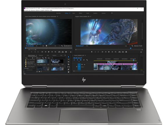 HP ZBook Studio x360 G5 Workstation - Center |Turbo Silver