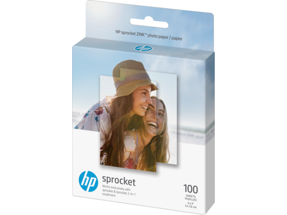 HP Sprocket Photo Paper-100 sticky-backed sheets/2 x 3 in - Left