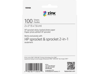 HP Sprocket 2 x 3 in (5.1 x 7.6 cm) Photo Paper-100 sheets