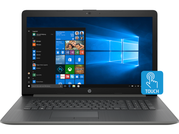 HP Notebook 17-ca0011nr Touch - Center