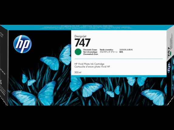 HP 747 300-ml Chromatic Green DesignJet Ink Cartridge