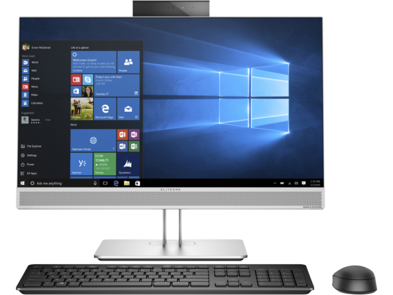 HP EliteOne 800 G4 23.8-inch Non-Touch All-in-One PC - Center