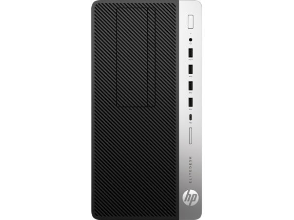 HP EliteDesk 705 G4 Microtower PC - Center