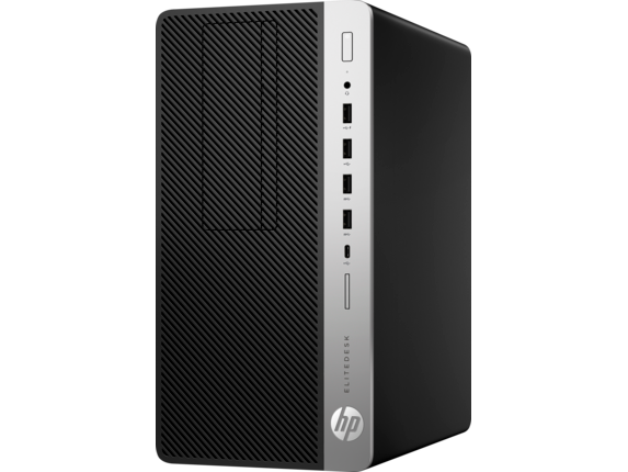 HP EliteDesk 705 G4 Microtower PC - Left