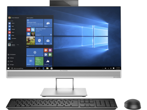 HP EliteOne 800 G4 23.8-inch Touch GPU All-in-One PC - Center
