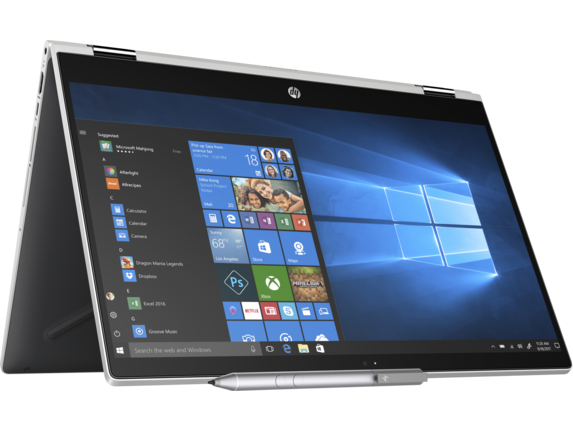HP Pavilion x360 Convertible Laptop - 15t - Right rear