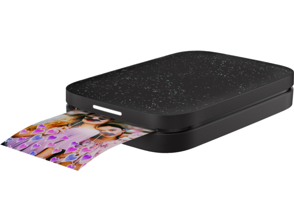HP Sprocket 2nd Edition Photo Printer - Left |Noir Black