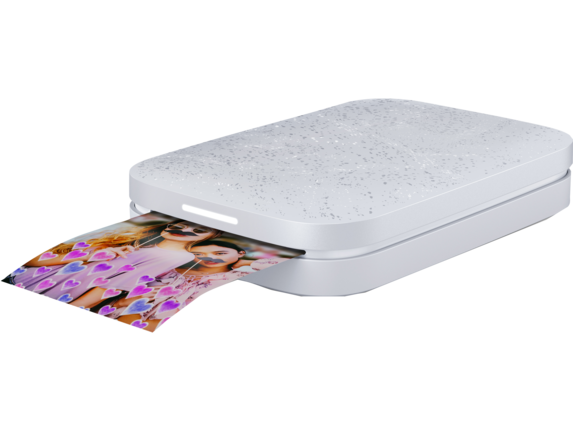 HP Sprocket 2nd Edition Photo Printer​ - Left |Echo White