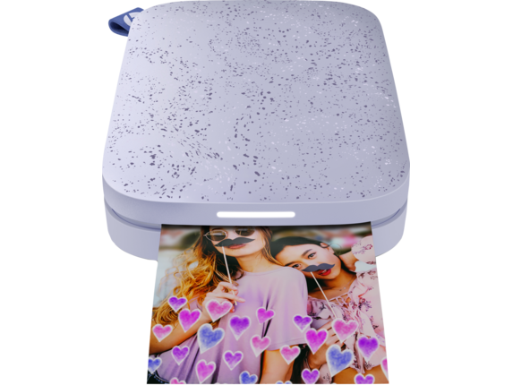 HP Sprocket 2nd Edition Photo Printer - Center |Lily Purple