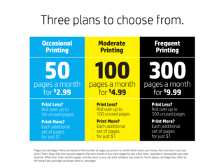 HP Instant Ink Prepaid Card ($5) - 50/100/300-page Plan