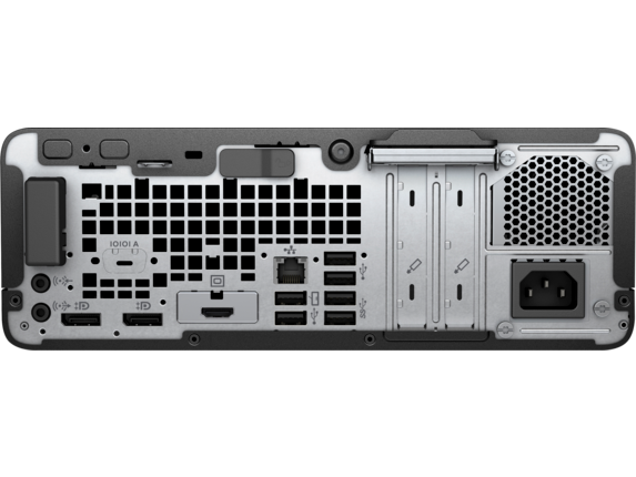 HP EliteDesk 705 G4 Small Form Factor PC - Rear