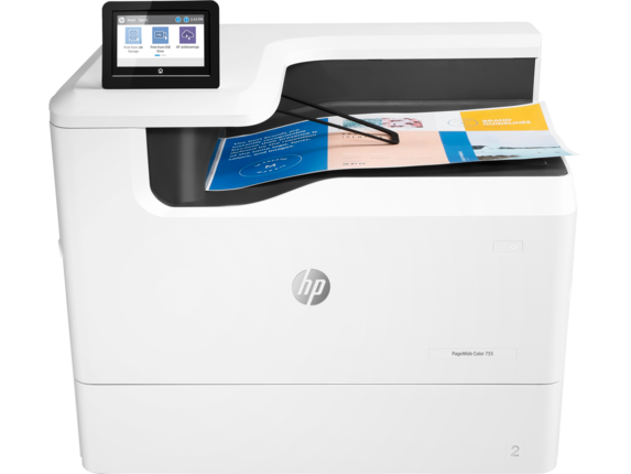 HP PageWide Color 755dn|WQVGA Resolution. Display|4PZ47A#B1H
