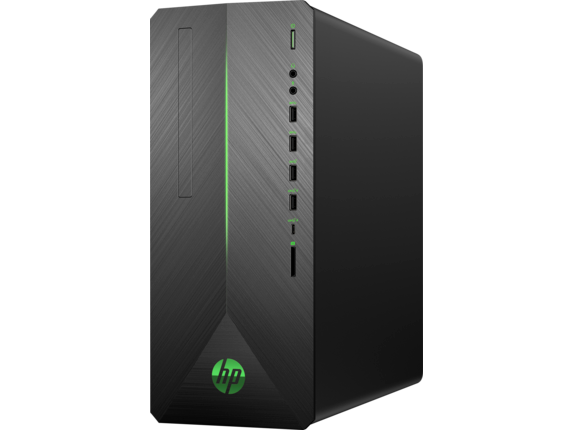 HP Pavilion Gaming Desktop - 790-0050t - Left |Shadow Black Brushed