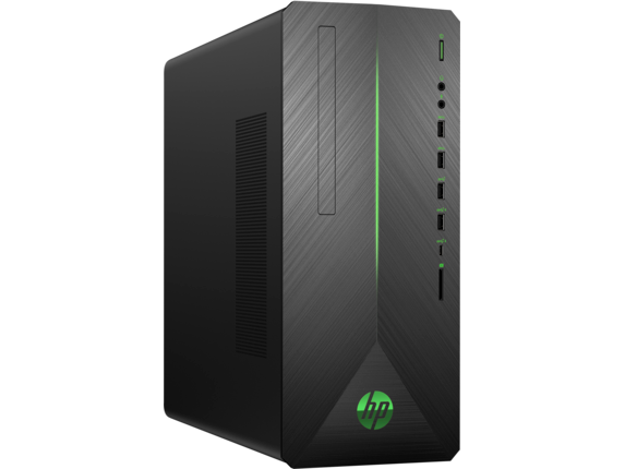 HP Pavilion Gaming Desktop - 790-0050t - Right |Shadow Black Brushed