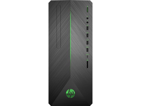 HP Pavilion Gaming Desktop - 790-0050t - Center |Shadow Black Brushed