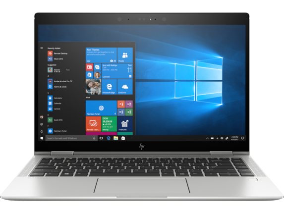 HP EliteBook x360 1040 G5 Notebook PC with HP Sure View - Center |Natural Silver
