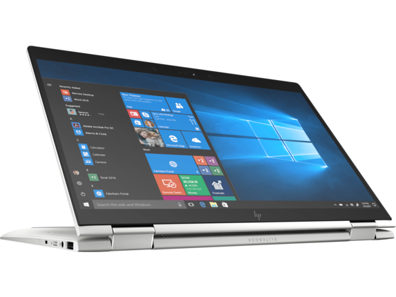 HP EliteBook x360 1040 G5 Notebook PC with HP Sure View - Right screen center |Natural Silver