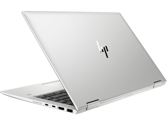 HP EliteBook x360 1040 G5 Notebook PC with HP Sure View - Left rear |Natural Silver