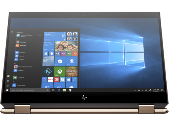 HP Spectre x360 - 15-df0069nr - Right screen center