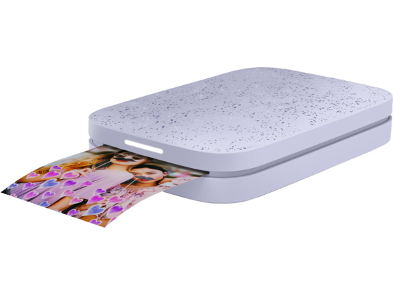 HP Sprocket 2nd Edition Photo Printer - Left |Lily Purple