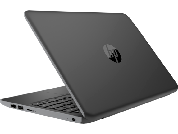 HP Stream 11 Pro G5 Notebook PC - Left rear |Storm Grey