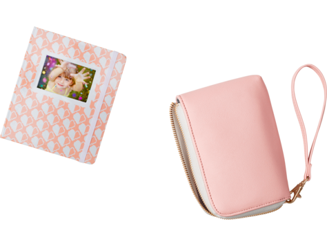 HP Sprocket Blush & White Heart Photo Album